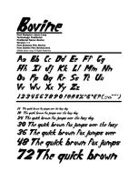 Bovine - A new display font by PlatinumTalon