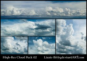 High-Res Cloud Pack 02 by Lizzie-Bitty