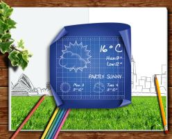 Architecture Blueprint Weather for xwidget by jimking