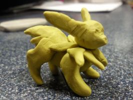 Jolteon Plasticine sculpture by Kloofcat