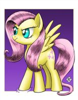 COMMISSION: Fluttershy Puts Her Hoof Down by Razia