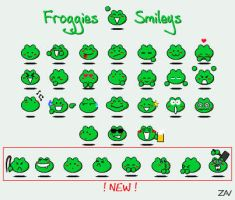 Frog Smileys by Zav-