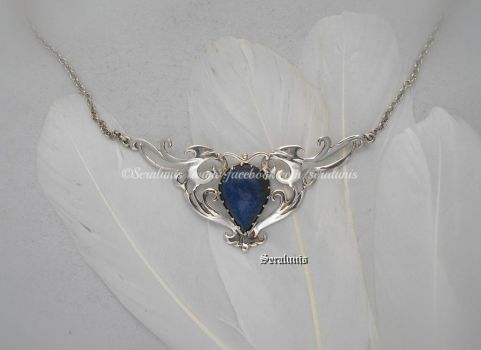 'Arnamentia',  handmade sterling silver necklace by seralune