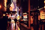 rainy city nights by auroille