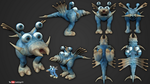 Playing with Sculptris #6 - First Spore Creature by Rebecca1208