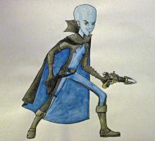 Megamind watercolor by HollyRoseBriar