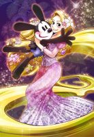 The lucky rabbit meets Tangled by May0315