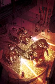 TMNT#57_cover by Santolouco