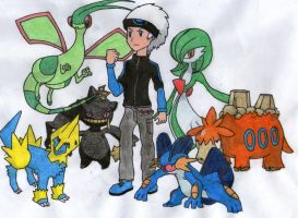 Jonathan's Hoenn Team by twilightlinkjh