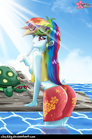 Rainbow Girl by CloudDG