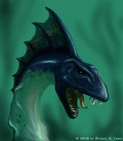Sea Serpent by vulgardragon
