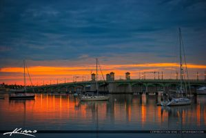 Sailboats-Docked-at-Bridge-of-Lions by CaptainKimo