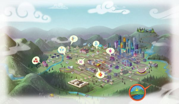 Equestria Girls Map by LordStalinV2