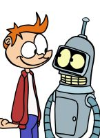 Fry and Bender by Yo-Snap
