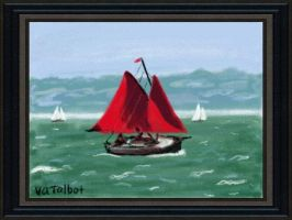 Red Sailboat by VATalbot