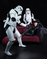 Star Wars: Stormtroopers and Imperial Officer by Luxxurious