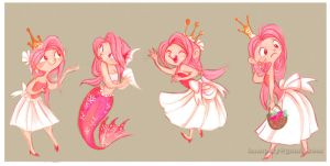 Princess Sketches by hampsty