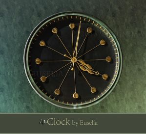Clock - png-file by Euselia