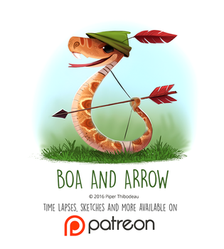 Daily Paint 1448. Boa and Arrow by Cryptid-Creations