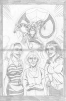 The Spider's girls pencil by hdub7