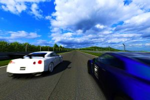 GT-R Showdown at the Ring by MasterSwordsmen1