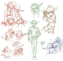 Jak OC: sketch dump 14012008 by merrypaws