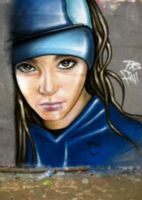 Graffitied Tom Kaulitz by SugarBaby-62