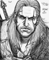 Geralt of Rivia Sketch 01 by Vladsnake