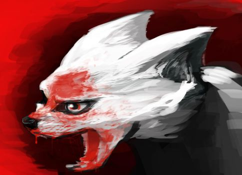 the bloodied fox by SamannaGene-ocide