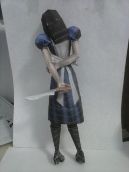 American McGee Alice - PaperCraft (Back) by juanviera22