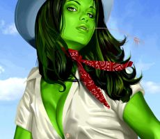 SHE_HULK by cybaBABE