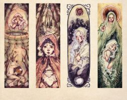 Fairy Tale Bookmarks by Miss-Belfry