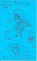 Blue Paper With Fandom Scribbles On It by Kittychan2005