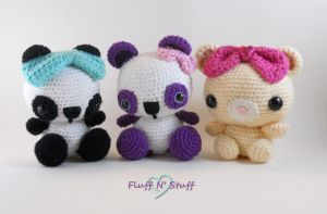 Amigurumi Bears! by SailorMiniMuffin