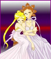 Serenity And Sailor SunColored by usagisailormoon20