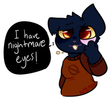 I have nightmare eyes! by spvcepup