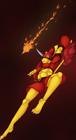 The Flaming Spear by Pikuna