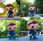 Funko Dean Repaint collage by LMRourke