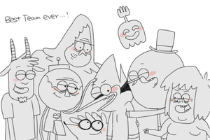 Regular Show Best Team Ever by OysteIce