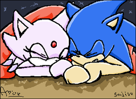 Fun and laughs. SonicxBlaze by sajisu