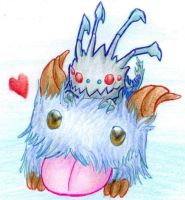 Bitty Kog'Maw on a Poro by Ms-Silver
