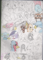My Art Book First Page WIP by asahiazumane
