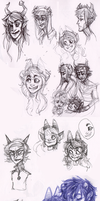 homestuck sketchdump 11 by Amandazon