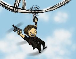 Booker Dewitt fun on skyline(Bioshock Infinite) by mopar44o