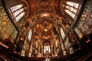 The Lyon cathedral by Cidji
