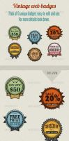 Vintage web badges by ithilius