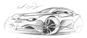 Citroen quick sketch by dyrborgdesign