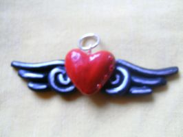 Heart and Wings Pendant Ryuk by ceciliaalovee