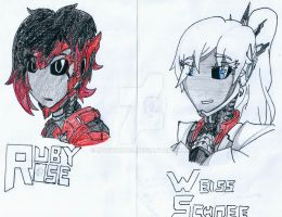 RWBYxTransformers: Cybertronian Ruby and Weiss by Mystic2760