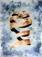 Abstract girl 3 by michelperrier